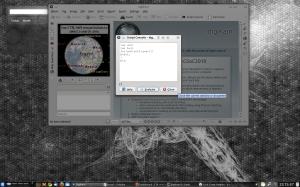 The script console screen shot.